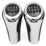 5 6 Speed Leather Chrome Aluminum Manual Gear Shift Knob For BMW E82 E90 E91 E60 E63 E83 E84 E53