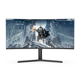 BlitzWolf® BW-GM3 Gebogener 34-Zoll-Gaming-Monitor 165 Hz WQHD 3440 x 1440 Auflösung 300 cd / R 1500R Krümmung 21: 9 Bring-Fish-Screen 120% sRGB-Farb-Home-Office-Gaming-Monitor
