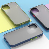 Bakeey for iPhone 12 Pro Max Case Shockproof Anti-Fingerprint Matte Translucent Hard PC & Soft TPU Edge Protective Case