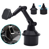 Universal 360 Rotation Flexible Arm Strong Magnet Car Phone Mount Gooseneck Cup Holder for POCO X3 NFC / POCO F2 Pro