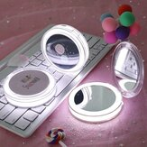 Hand Held Fold Small Portable LED Mini Makeup Mirror