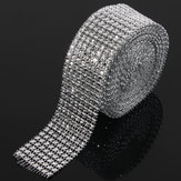 Mariage Diamond Mesh Roll étincelle strass cristaux ruban Decor