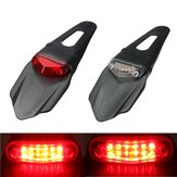 Guardabarros de motocicleta 12 LED Lámpara Stop Break Cola trasera Luz roja Universal