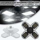 E27 80W LED Garaj Işıkları Deforme Garaj Tavan Işığı LED Ampul 4 Deforme Paneller