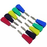 50Pcs P3002 Red+Black+Green+Blue+Yellow 10pcs Each Color 4mm Stackable Nickel Plated Speaker Multimeter Banana Plug Connector Test Probe Binding