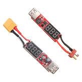 2S-6S Lipo Bateria para USB Power Converter Adapter Display Digital 5V 1A