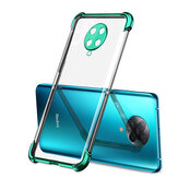 Bakeey 2 in 1 Airbag Plating Lens Protect Ultra-Thin Anti-Fingerprint Shockproof Transparent Soft TPU Protective Case for Poco F2 Pro / Xiaomi Redmi K30 Pro Non-original