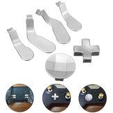 6Pcs Silver Metal Botões Mod Kit de substituição para Xbox One Elite Controlador