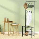 Metal Hat and Coat Bags Clothes Cloth Shoe Rack Stand Shelf Garment Hanger Hooks