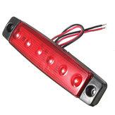 12v 6 LED Lámpara de luz indicadora de posición lateral del remolque bus camión