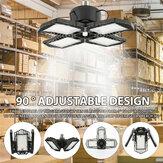 60W E27 132 LED Garaż Światło 4 ostrza Deformowalna lampa sufitowa do fabryki warsztatowej AC85-265V
