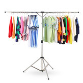 Stainless Steel Laundry Clothes Adjustable Folding Hanger Portable Drying Stand Rack