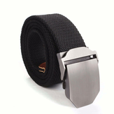 Mens Canvas Military Style Belt Outdoor Leisure Adjustable Slider Buckle Weave Web Waistband