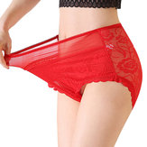 Plus Size High Waist Elastic Full Hips Panties