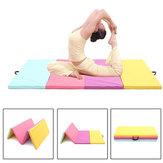 118x47x2inch Folding Yoga Mats PU Leather Gymnastics Mat Floor Dancing Exercise Training Pad