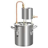 12/20 / 33L distillateur d'alcool 201 en acier inoxydable encore brasseur Kit d'eau pure brasser la chaudière à huile d'alcool
