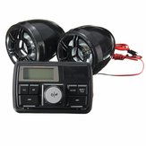 Motorcycle Handlebar Stereo Alarm System Radio Amplifier MP3 3 Inch Speakers with bluetooth Function