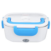 Portable Electric Heated Lunch Box 12V Vehicle-mounted Insulation Bento Stainless Steel Separate Section-1.05L