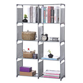 5 Tiers Metal Cube Bookcase Storage Shelf Display Stand DVD CD Holder Bookshelves Storage Racks Shelving Unit for Home Office Dormitory