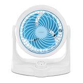 Mini ventilateur Ventilateur de table personnel Ventilateur de circulateur d'air Ventilateur silencieux 3 vitesses Rotation à 360 ° Réglable