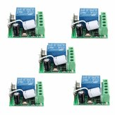 5Pcs DC12V 10A 1CH 433MHz Wireless Relay RF Remote Control Switch Penerima