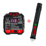 48~250V Electric Socket Outlet Tester +Voltage Tester Pen LCD Display Home Professional Use