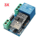 3Pcs ESP8266 12V WiFi Relay Networking Smart Phone Phone Remote Control Switch