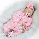 22''Handmade Реалистичная Девочка Кукла Силиконовый Винил Reborn Newborn Куклаs Одежда Baby Кукла Игрушка