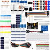 Kit básico de componentes eletrônicos para iniciantes com placa de ensaio Jumper fios resistores de cor Led Capacitor Buzzer para Arduino
