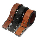 120cm Leather Tactical Belt Automatic Button Men's Waistband Casual Waist Strap