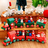 Christmas Wood Train Christmas Decorations Decor Innovative Gift for Children Diecasts Toy Vehic