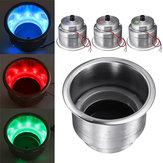 14 LED porte-gobelets en acier inoxydable poli pour camion de voiture marin RV