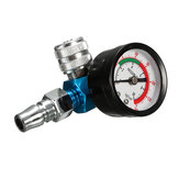 Air Pressure Regulator Air Regulating Valve Tail Pressure Gauge For Spray Gun