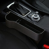 ABS Left Side Car Seat Crevice Gap Storage Box Drink Holder Pocket Coin Organizer