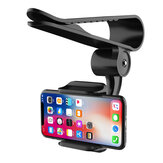 Bakeey Universal 360° Adjustable GPS Car Clip Sun Visor Cell Phone Holder For Most smartphones Such For Samsung For iphone Huawei