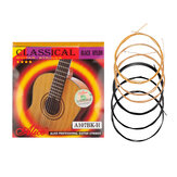 Alices A107BK-H Black Nylon H85 Coated Bronze Alloy Wound Classical Guitar Strings 1st-6th Strings