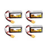 4Pcs ZOP Power 14.8V 1800mAh 65C 4S Lipo Battery XT60 Plug For PFV Racing Drone