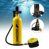 Conjunto de tanque de mergulho 1L para mergulho com tanque de mergulho Respirador de mergulho para tanque de mergulho Armazenamento Bolsa Snorkel de viagem subaquático