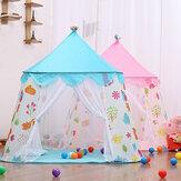 Tenda de brincadeira grande princesa Castle Kids Play House Tendas infantis portáteis para menina tenda coberta ao ar livre