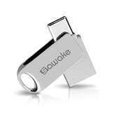 SAWAKE Metal Data Transmission Adapter 64G USB3.0 Type-C Dispositivo de transferência de dados à prova d'água de interface para Huawei P30 P40 Pro Xiaomi MI10