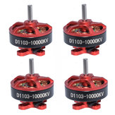 4 PCS Aurora RC D1103 1103 10000KV 1-3S Brushless Motor 1.5mm Shaft for RC Whoop FPV Racing Drone