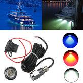 9W IP68 Waterproof Rate 6 LED Car Boat Drain Plug Light Bulb
