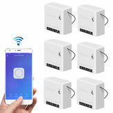 6pcs SONOFF Mini Two Way Smart Switch 10A AC100-240V Works with Amazon Alexa Google Home Assistant Nest Supports DIY Mode Allows to Flash the Firmware
