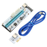 PCI-E 1x إلى 16x Extender Riser بطاقة 6 PIN محول USB 3.0 Expansion محول For Bitcoin BTC Mining