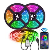 1 M / 2 M / 3M/4 M / 5 M bluetooth IP67 5050 RGB LED Strip Licht Waterdichte APP USB Tape Backlight Home Decoratieve Lamp