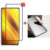 Bakeey voor POCO X3 NFC-accessoires Anti-explosie Volledige lijm Gehard glas Screenprotector + Flip Plating Spiegel Window View Beschermhoes Niet-origineel