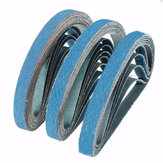 10Pcs 40 to 80 Grit Zirconia Sanding Belts 13x457mm Abrasive Grinding Tool