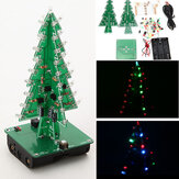 Arbre de Noël LED Kit Flash 3D Apprentissage Electronique DIY