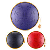 HLURU 14 Inch 9 Tone D Minor Handheld Tank Drum Percussion Instrument Yoga Meditation Steel Tongue Drum Meditation