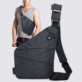Mannen Verborgen Crossbody Schoudertas Anti Diefstal Messenger Bag Motorcycle Chest Pack